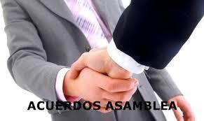 Para que sirven los acuerdos en asambleas