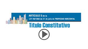 artículo 5 de la lph referente al título constitutivo