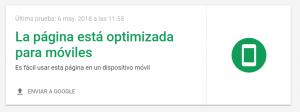 Página optimizada para móviles